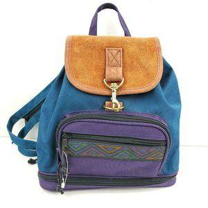 Vintage 90's Aztec Mini Backpack Purse
